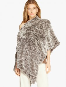 Convertible Fur Poncho