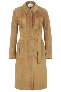 Premium Suede Trench Coat