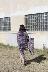 Cities & Villages Washed Silk Shibori Wrap