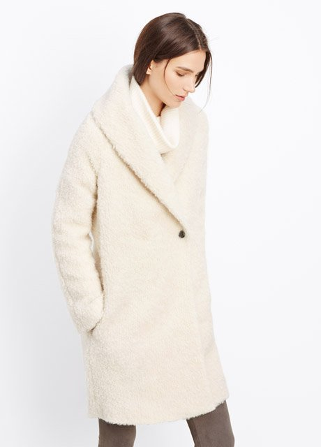 Fuzzy Knit Bouclé Coat
