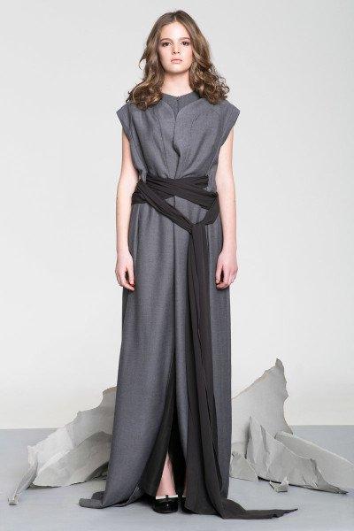 Gray Layered Dress
