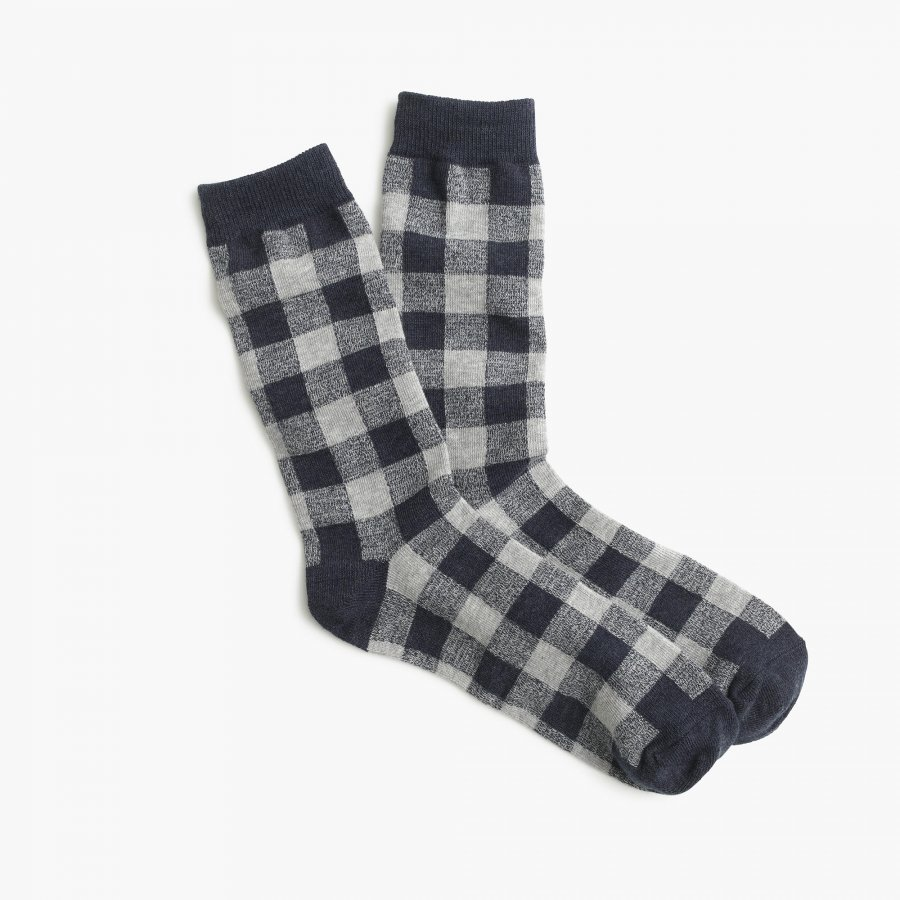 Buffalo check trouser socks