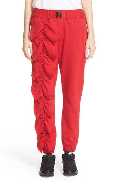 Ruffle Cotton Terry Pants