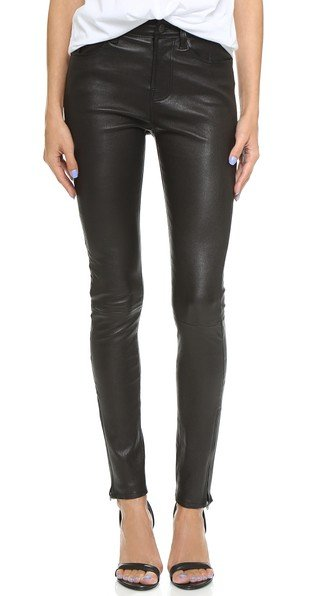 Maria High Rise Leather Pants