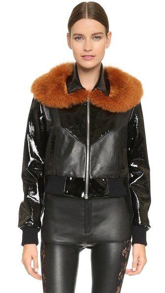 Fox Collar Bomber Jacket