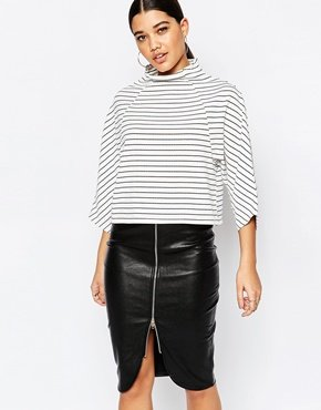 Structured High Neck Top