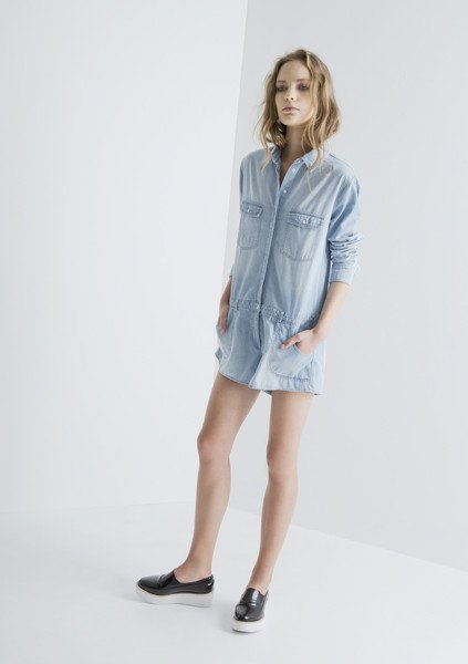 EXPECTATIONS PLAYSUIT chambray