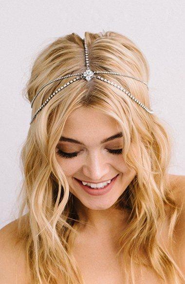 \'Lindsay\' Embellished Hair Chain