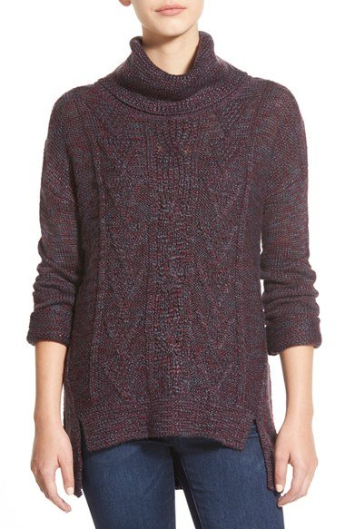 Marl Cable Knit Turtleneck