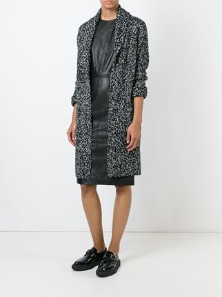 chunky knit marled coat