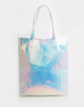 Hologram Shopper Beach Bag
