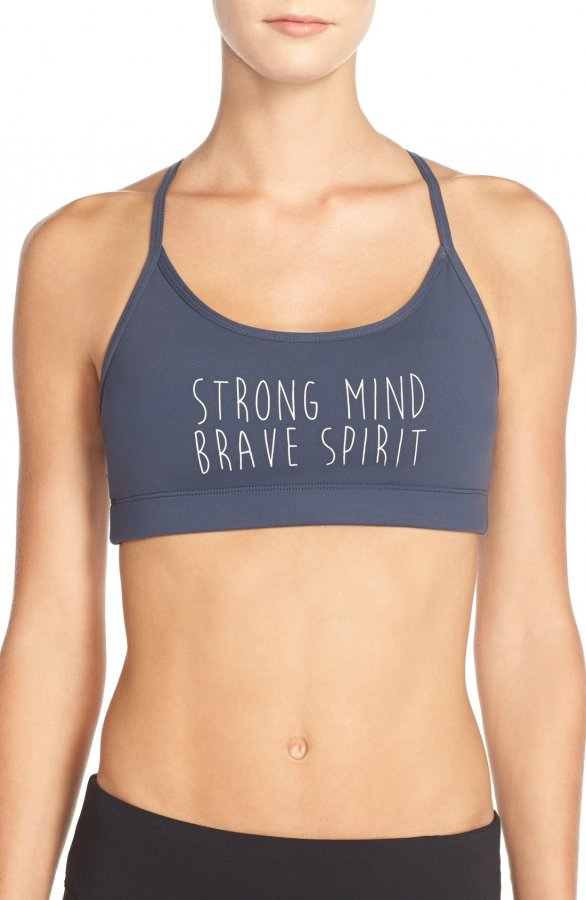 \'Strong Mind Brave Spirit\' Sports Bra
