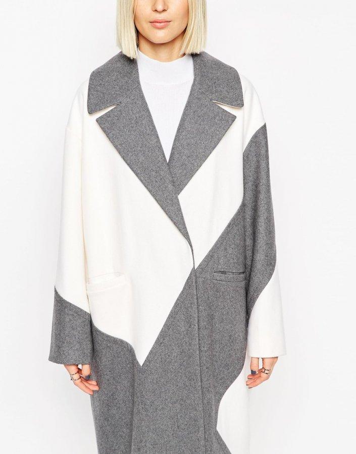 Colour Block Ovoid Coat