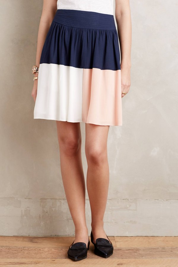 Blocked Circle Skirt