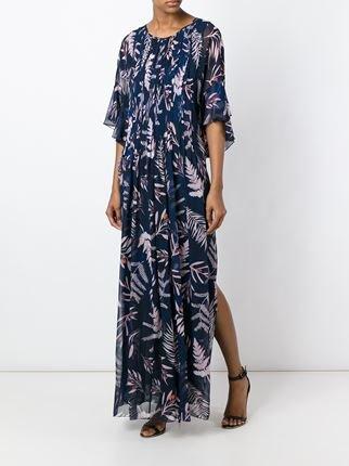 Botanical print maxi dress