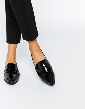 Patent Pointed Toe Loafer Flat Shoes