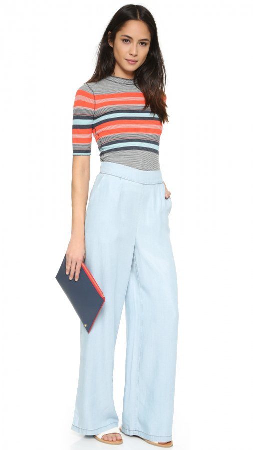 Skylee Chambray Trousers