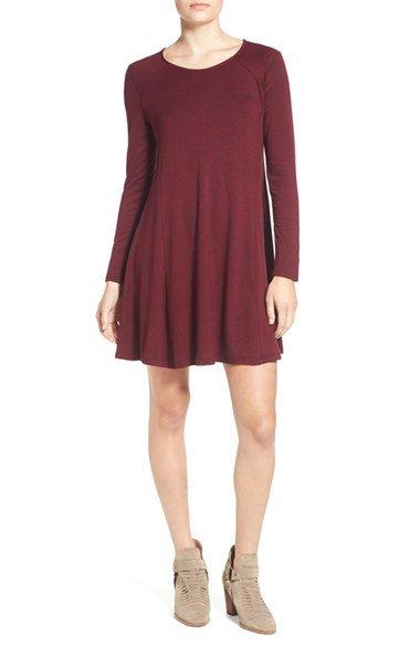 \'Lauren\' Long Sleeve Shift Dress