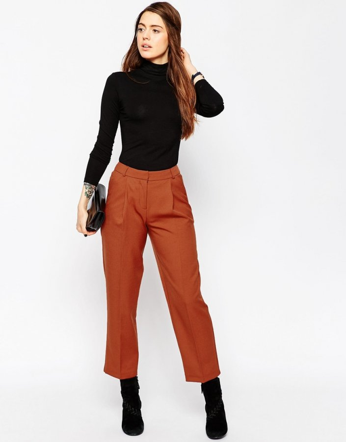 Peg Trousers with Pleat Front
