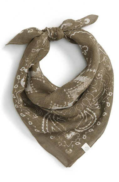 \'Feathered Bandana\' Scarf