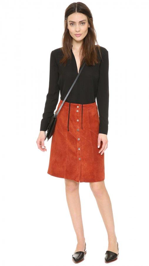 Adrienne Suede Skirt