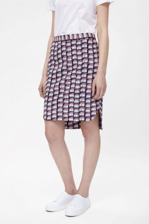 Crinkled pencil skirt
