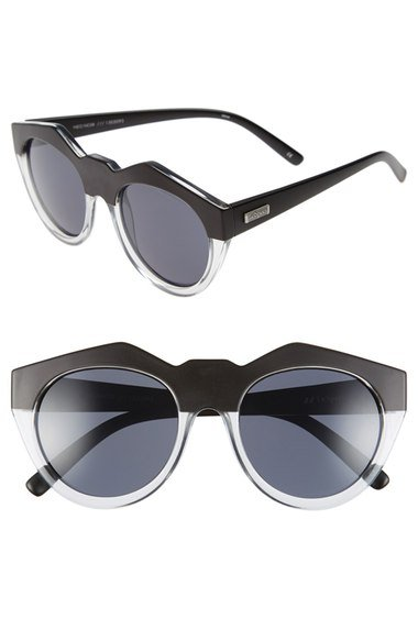 \'Neo Noir\' 53mm Oversized Sunglasses