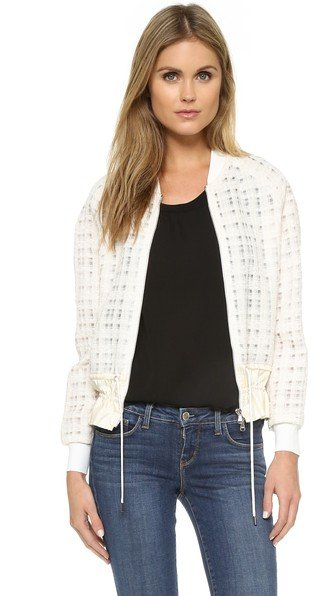 Bomber Jacket with Cinched Hem