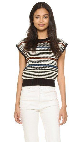 Multi Stripe Cropped Sweater