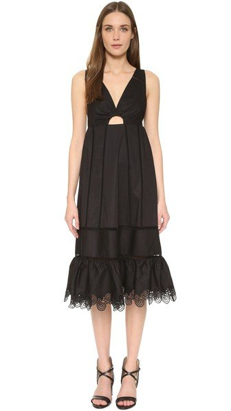 Crochet Inset Dress