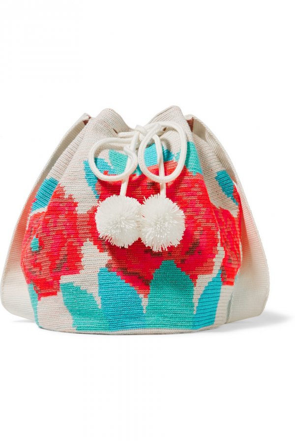 Lilla crocheted cotton shoulder bag