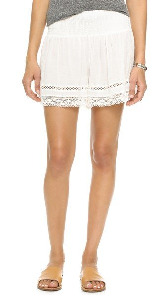 Gauze Ruched Shorts