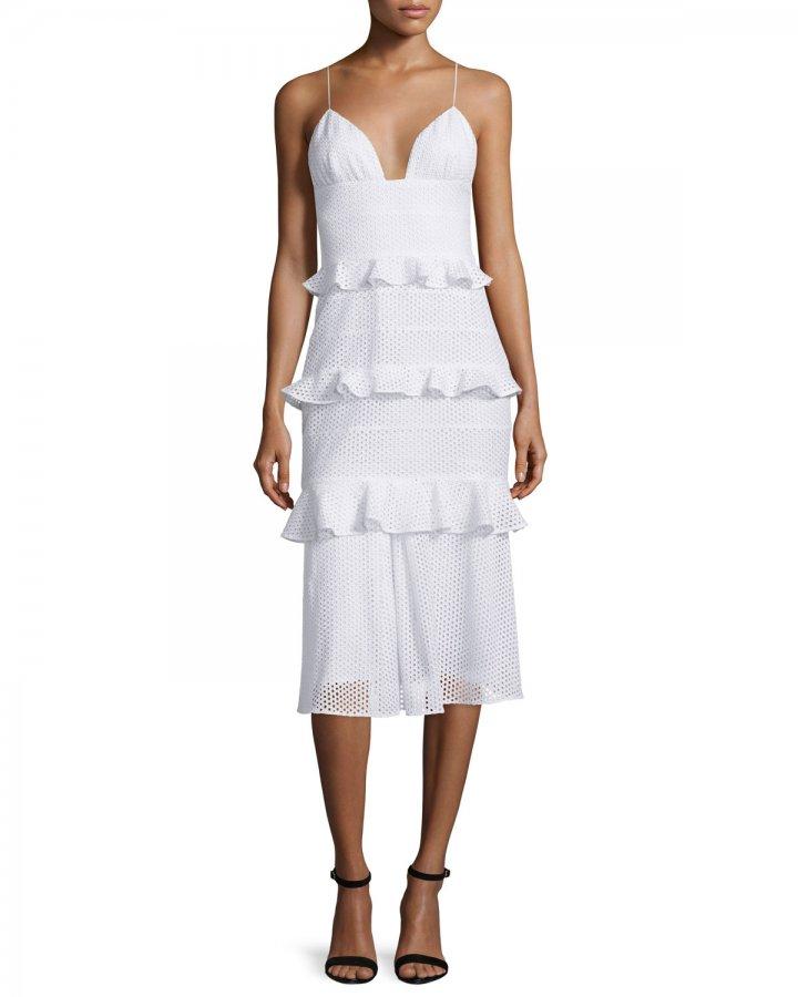 Sleeveless Eyelet Bustier Dress