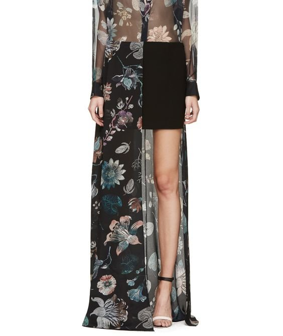Multicolor Floral Anthony Vaccarello Edition Skirt