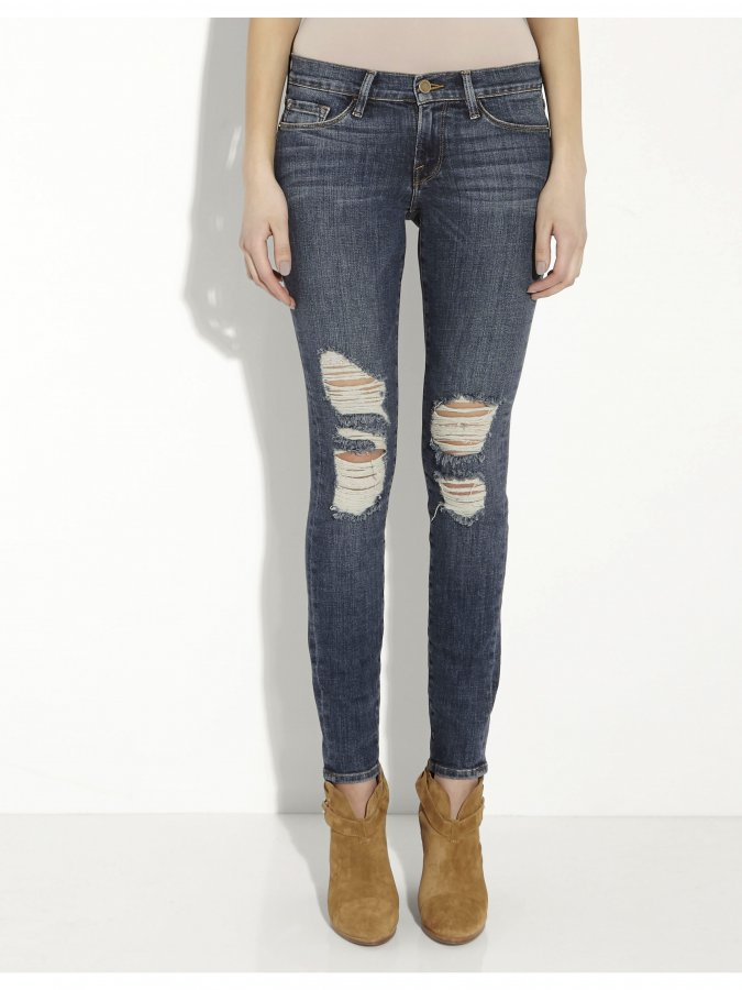Le Skinny Distressed Jean