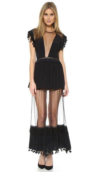 Karina Sheer Panel Maxi Dress
