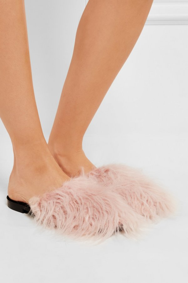 10MM ASPEN LONG FAUX FUR MULES