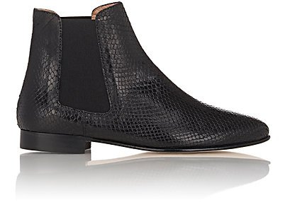 Stamped-Leather Chelsea Boots