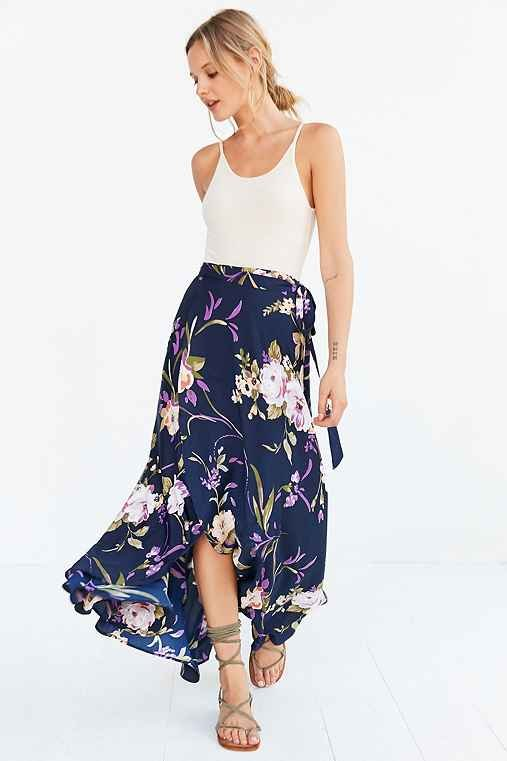 Tulip Wrap Maxi Skirt