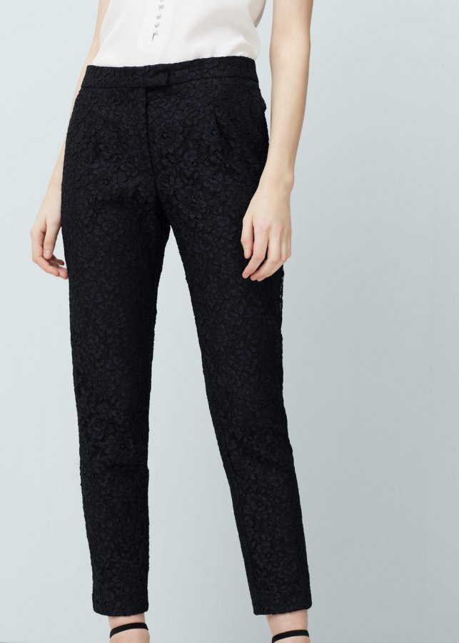 Guipure trousers
