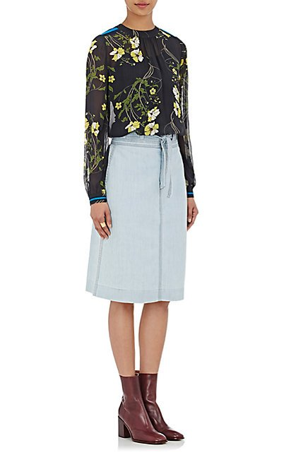 Tie-Waist Byrd Skirt