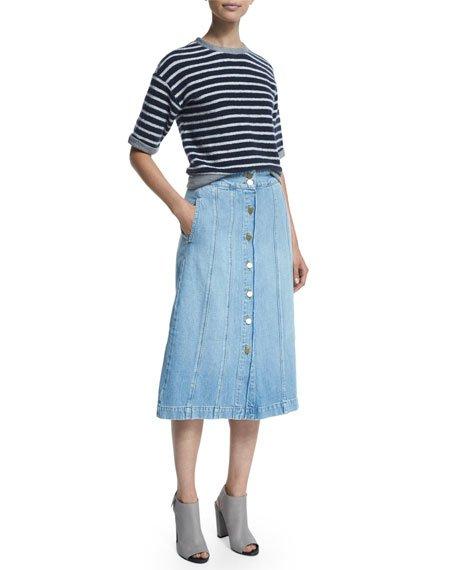 Le Panel Denim Skirt