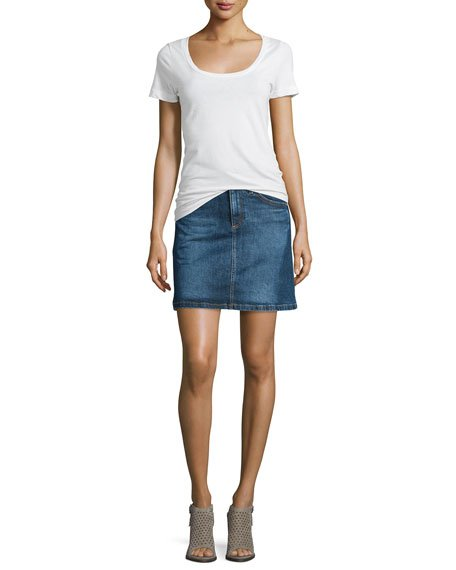 The Ali A-Line Denim Skirt