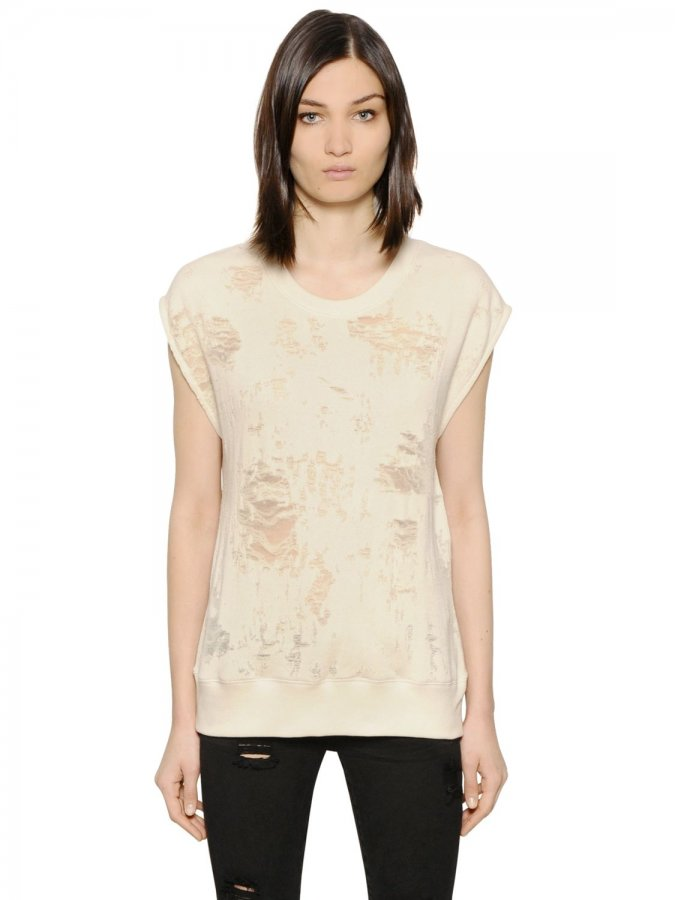Nuala Distressed Jersey T-shirt