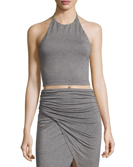 Jaymee Cropped Halter Top