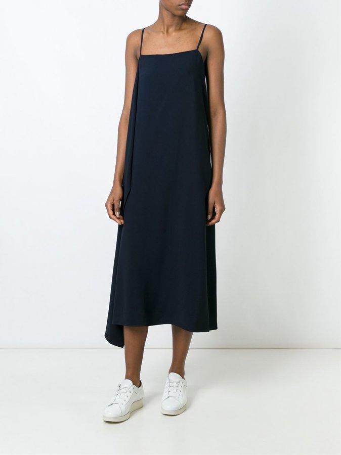 Side Drape Slip Dress
