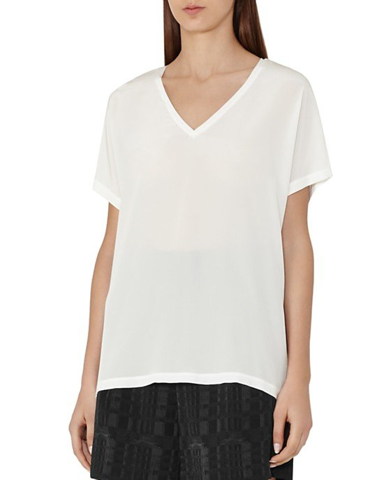 Darcy Silk Front Tee
