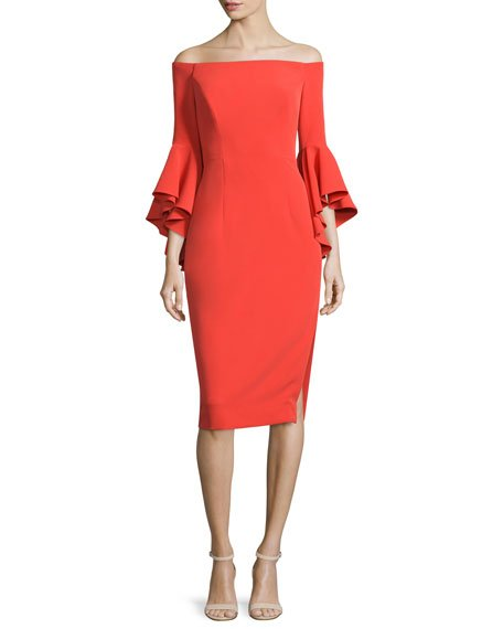 Selena Off-The-Shoulder Sheath Dress