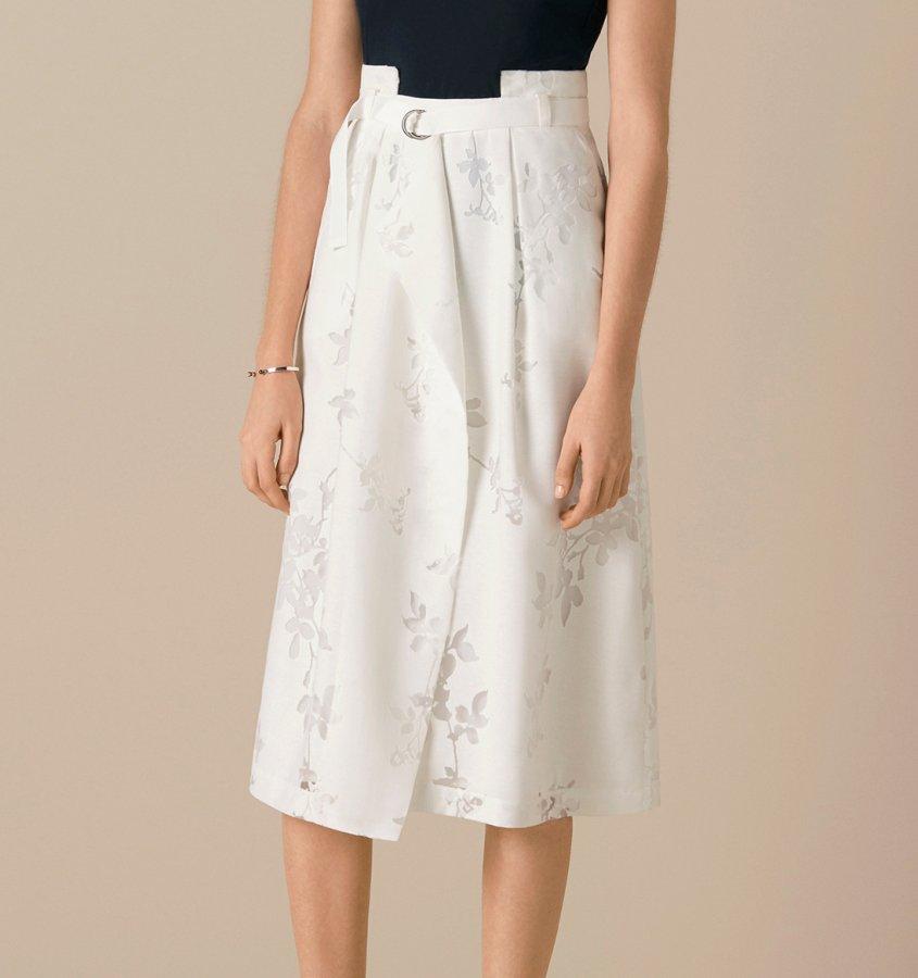 Ashford Origami Floral Belted Skirt