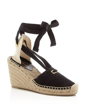 Marcelle Ankle Tie Wedge Espadrille Sandals